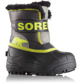 Sorel Toddler's Snow Commander Boots Dark Grey/Warning Yellow